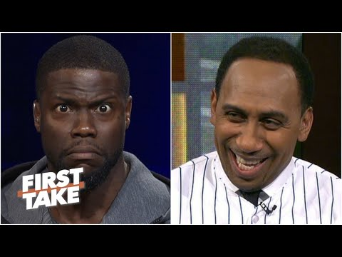 Kevin Hart gives Stephen A. a Tim Tebow Mets jersey (2016) | First Take | ESPN Archive