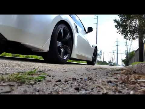 370Z with AAM Competition Short Tail axle-back exhaust