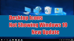 Restore Windows 10 creator update desktop icons