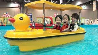 실내 오리배를 타봤어요!! 완전 멋져요 서은이의 실내놀이터 전동오토바이 직업체험 병원 소방서 인형뽑기 Duck Boat and Indoor Playground