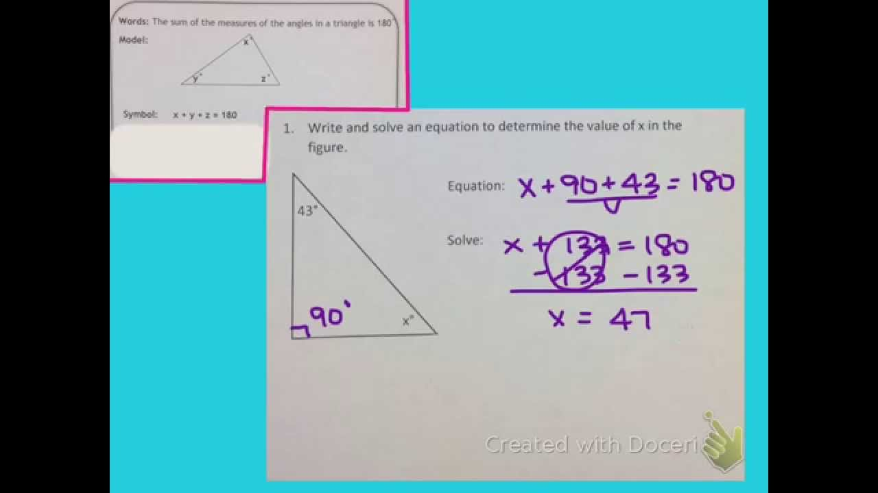 Fine Solving Geometry Equations Ideas - Math Worksheets - modopol.com