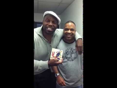 Actor Lester Speight clowning about Delray's new album Mahogany Masterpiece.