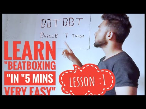 Learn beatboxing in 5 minutes hindi tutorial beginers  lesson 1 