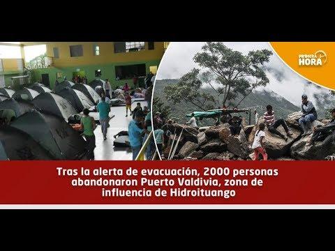 Así amanece la zona declarada en alerta por Hidroituango en Antioquia