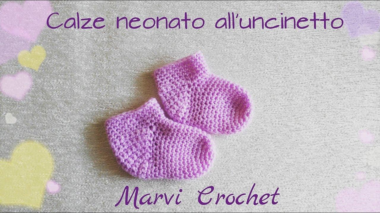 Tutorial Calze Baby Neonato All Uncinetto Crochet