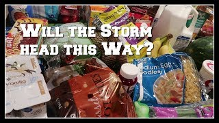 $104 grocery haul and the meal plan | Braving storm Walmart amongst all the hurricane prep!