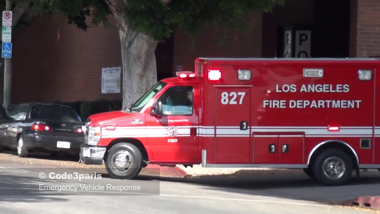 Lafd Ambulances Responding Lights And Sirens Collection