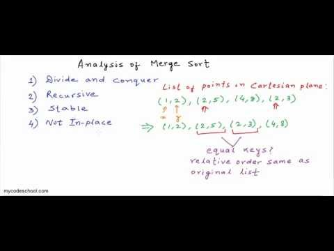 Analysis of Merge sort algorithm