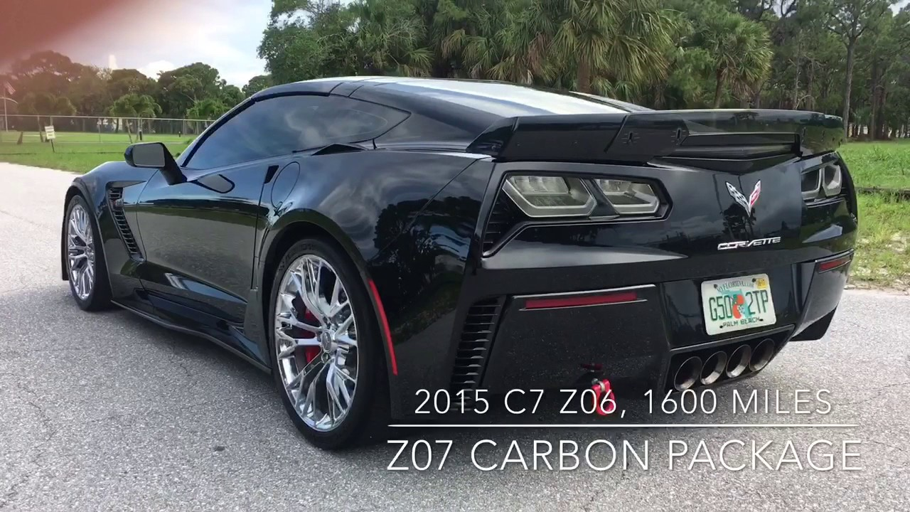 Corvette Zo7 >> 2015 C7 Z06 CHEVROLET CORVETTE STINGRAY 3LZ W/Z07 CARBON PACKAGE FOR SALE WALK AROUND VIDEO ...