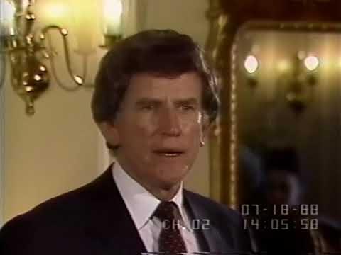 1988 Democratic Presidential Candidates speak