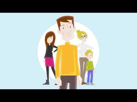 Abgesichert in der Familienversicherung - Erklärfilm der Krankenkasse Knappschaft