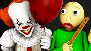 Baldi vs Pennywise (It Horror 3D Animation)