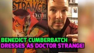 Benedict Cumberbatch surprises fans at NYC dressed as Dr Strange!