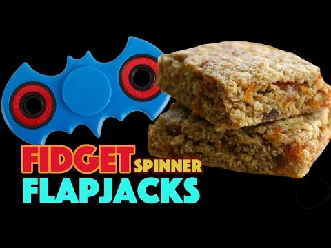 Baking for kids - Fidget Spinner Flapjacks - A healthy fun treat made by the Lost Kids
