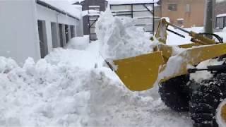 2018年2月 北陸大雪 50cm手前の除雪車
