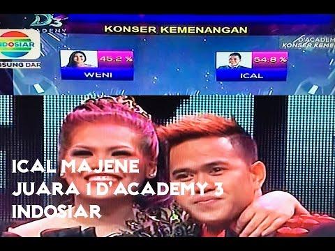 Ical Majene Juara 1 Dangdut Academy 3 Indosiar - Congratulation