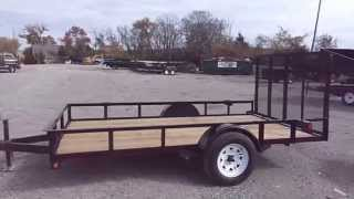 6 4 x 12 utility trailer tall spring assist frame gate w spare tire holder