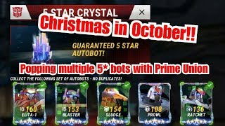 NEW BATCH! Crystal popping multiple 5 STAR BOTS with Prime Union - TFEW, Transformer Earth Wars