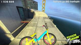 Repeat youtube video TouchGrind BMX best trick ever on skyline!!!!( 2nd ramp) 900,000 in 1 jump! - Touchgrind BMX
