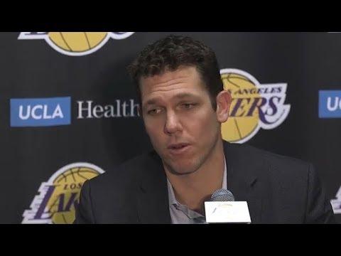 Luke Walton Postgame Interview / LA Lakers vs Thunder / Feb 8