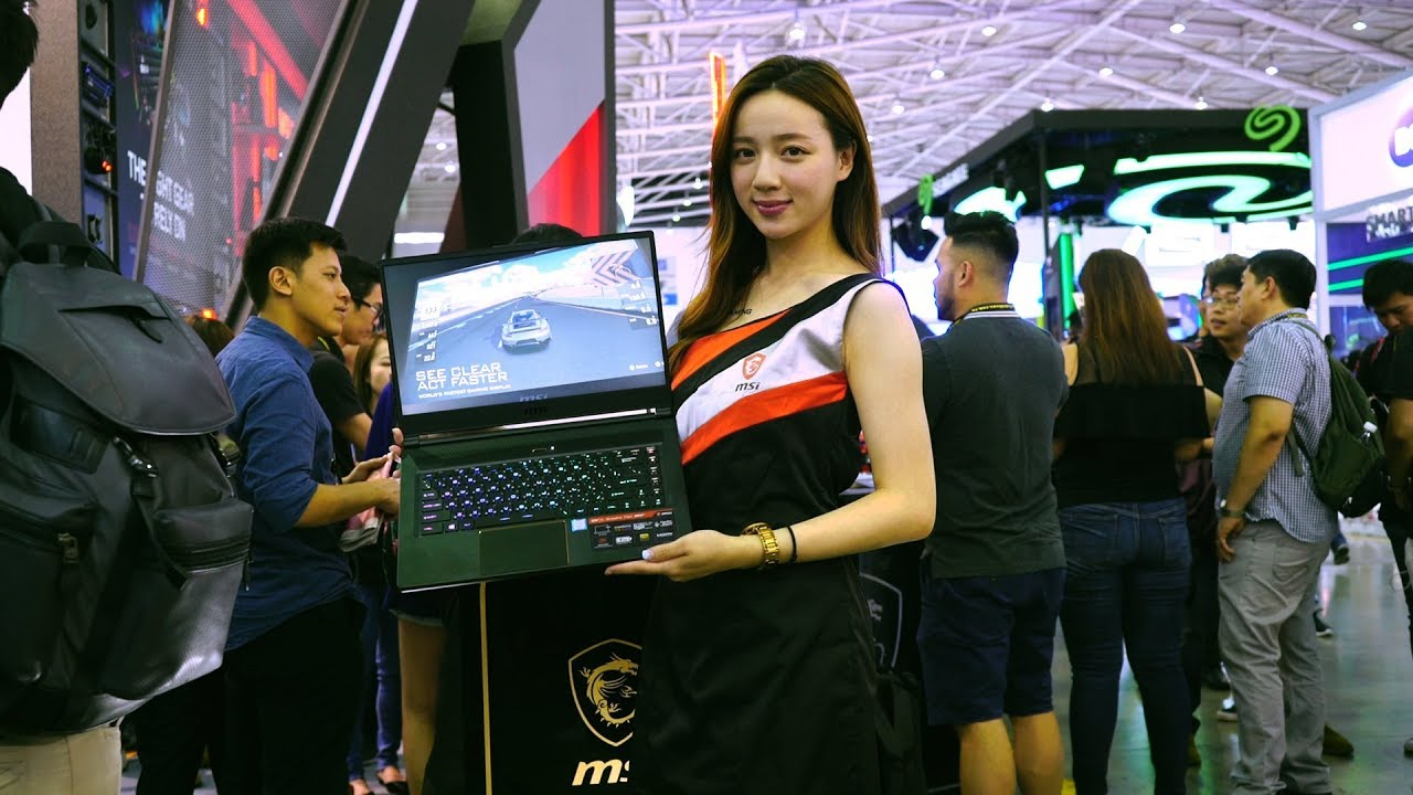 Live from COMPUTEX 2018: Beefy gaming laptops, monitors and more gaming products.