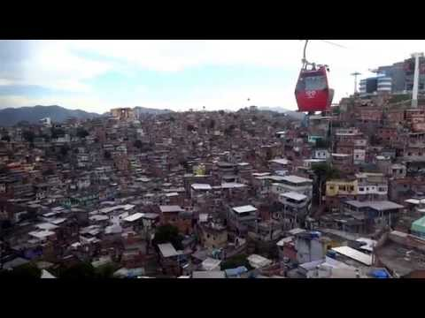 Cable car above Alemão slum in #RiodeJaneiro #Brazil