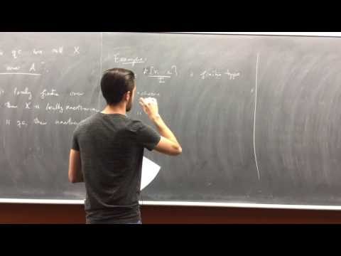 23. Algebraic geometry - A-schemes and many definitions (Patrick Naylor)