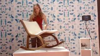 V's Rocker - Foldable Rocking Chair At Milan Furniture Fair 2015
