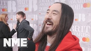 Steve Aoki at the Brits 2019 on his work with BTS and the success of K-Pop