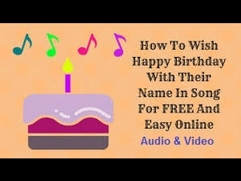 How To Create | Happy Birthday Song | Video Song With Name ! New - [Youtube]