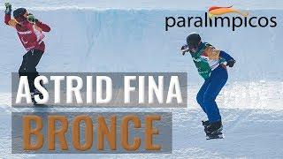 Medalla de Bronce de Astrid Fina en Pyeonchang | @paralimpicos