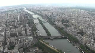 Eiffel Tower - Paris (Elevator ride to the top) [HD]