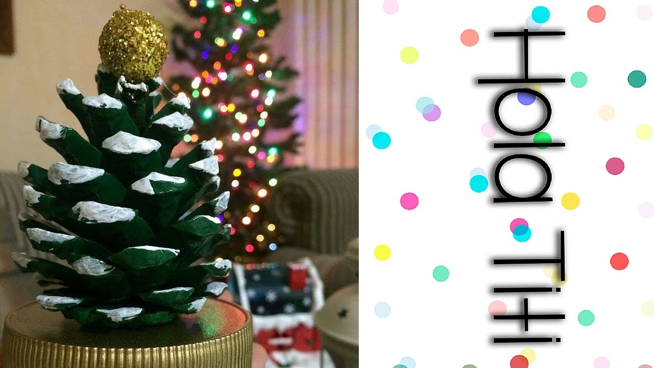C mo hacer un rbol de navidad con pi a de pino hola - Arbol de pina ...