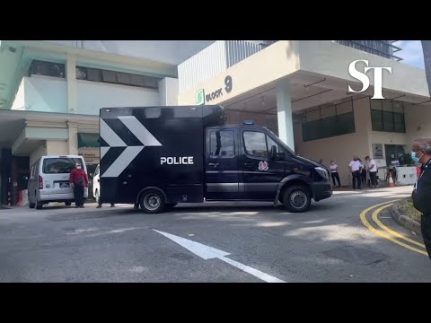 CNY Tragedy: First Police Hearse Arrives At SGH Mortuary