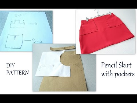 How to make a cute skirt with pockets