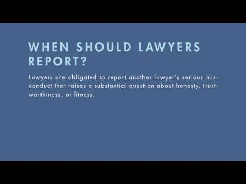 Legal Ethics tutorial: Reporting Lawyer Misconduct | quimbee.com