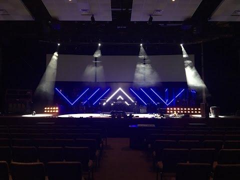 DIY LED Tape Light Stage Set