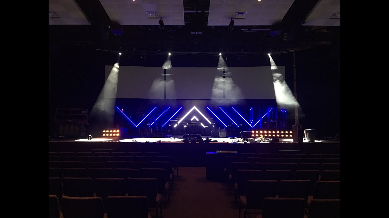DIY LED Tape Light Stage Set - YouTube