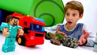 Видео Майнкрафт – Строим для Стива гараж – Игры Minecraft.