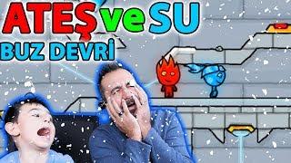 ATEŞ VE SU BUZ ÇAĞI OYNUYORUZ! | FIREBOY AND WATERGIRL ICE AGE