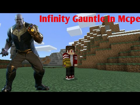 When you obtained them you can craft kit or powerful weapons,. Minecraft PE Infinity Gauntle Addon - YouTube