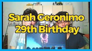 Sarah Geronimo 29th Birthday  REACTION