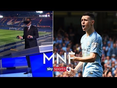 Jamie Carragher recreates Phil Foden's first Premier League goal in virtual reality! | MNF