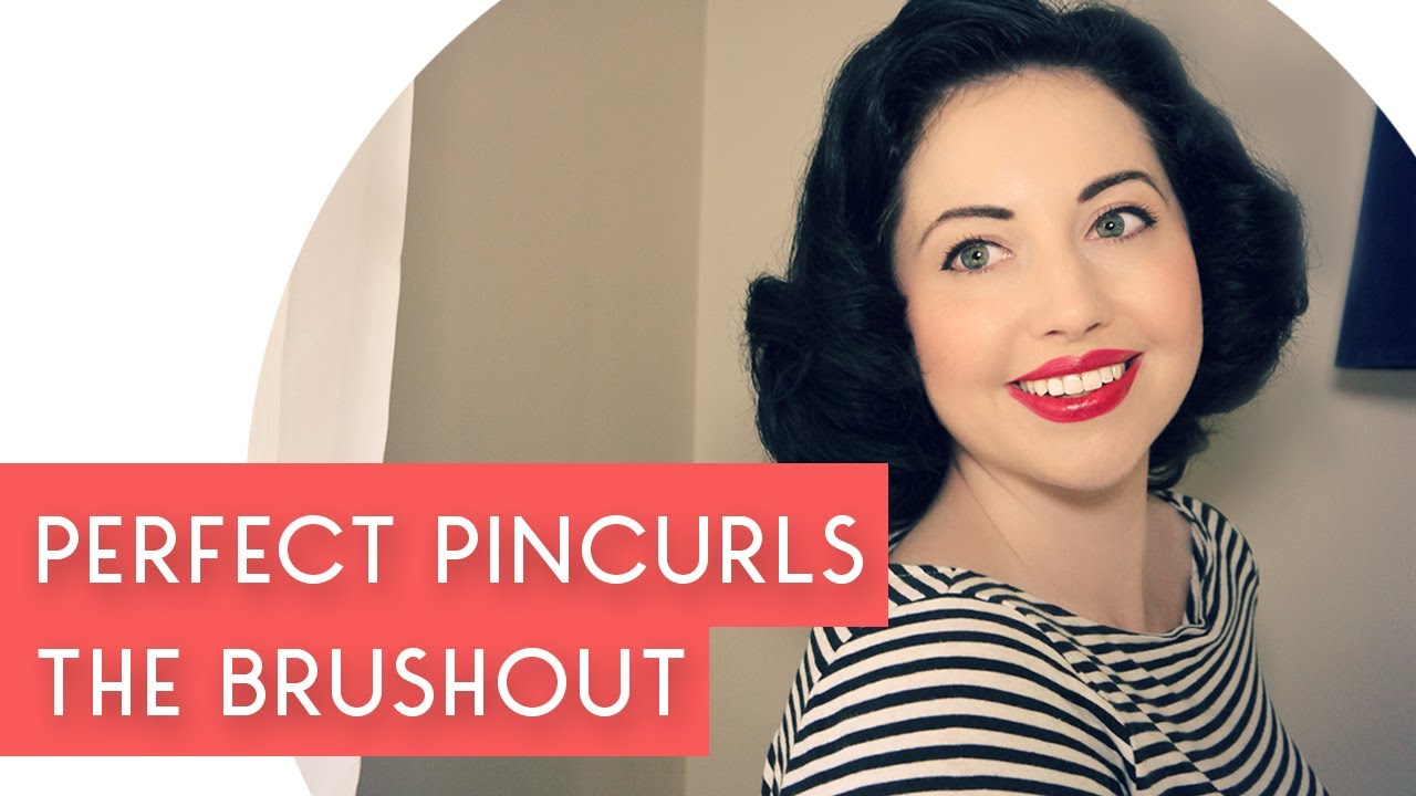 Pin Curls tutorial. How to style them once they're set