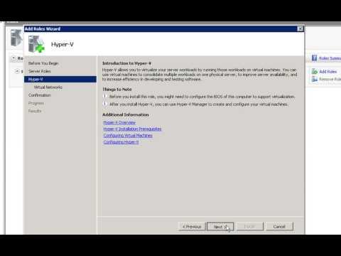 Windows Server 2008 Hyper-V Installation