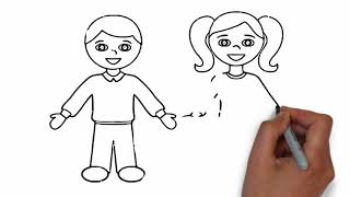 How to draw student boy and girl easy step by step Mr drawing