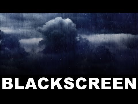 Gentle Rain Sounds Rolling Thunder Sounds Black Screen Sleep Meditation Relaxing Rainfall