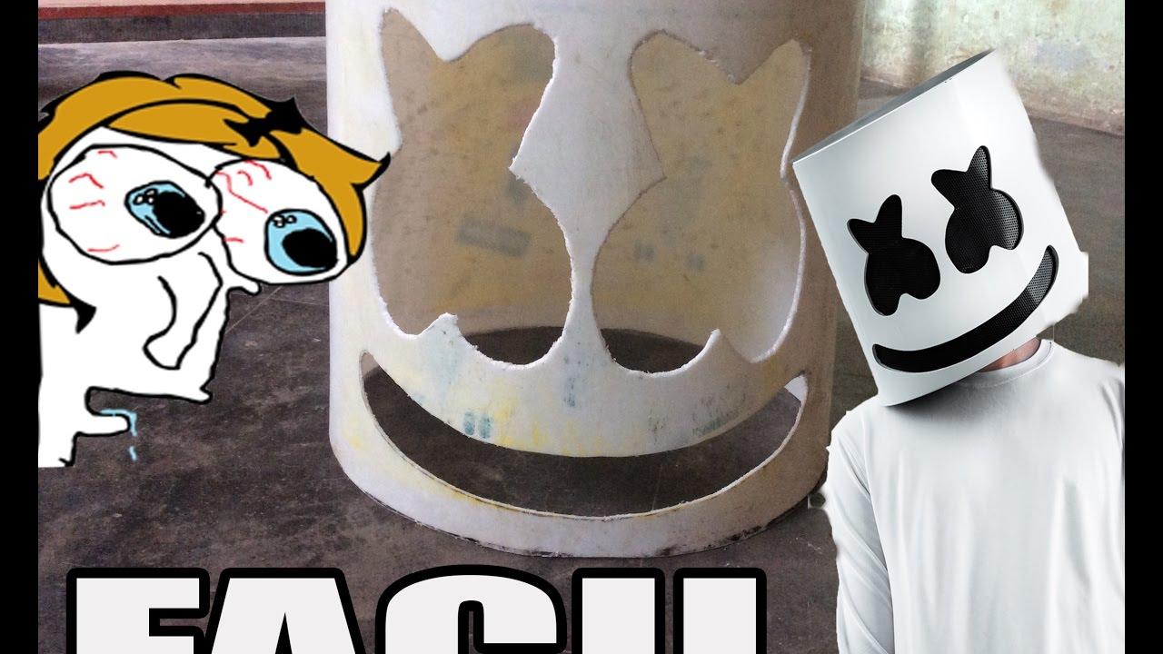 Como Hacer El Casco De Marshmello How To Make Marshmello Helmet