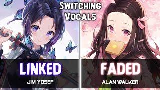 Download Mp3 「nightcore」→ Linked ✘ Faded  Alan Walker / Jim Yosef  -  Switching Vocals