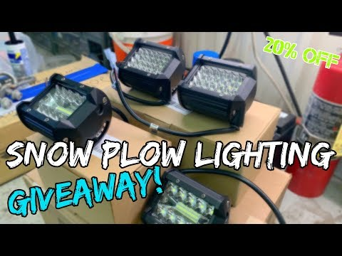 The Best Snow Plow Light Setup | NAO Lights On Lights On Lights!!